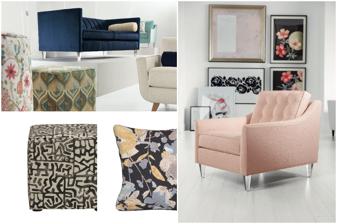 """Selections from Ethan Allen's new """"Lucy collection."""" Courtesy Ethan Allen."""